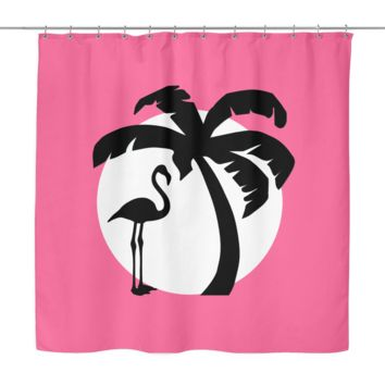 Flamingo Sunset Shower Curtain
