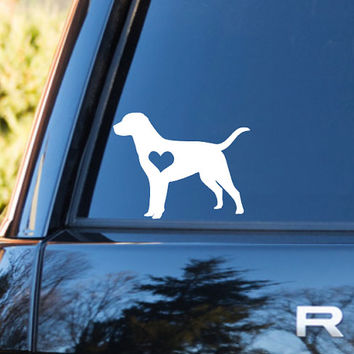Labrador Heart Decal | Labrador Mom Decal | Labrador Dog Mom Decal | Dog Dad Decal | Dog Family Decal | Love Sticker | Love Decal | 203