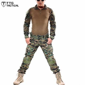 Outdoors Sports Airsoft Frog Suit  Army Military Uniform Tactical USMC Combat Jacket + Pants Hunting Clothes