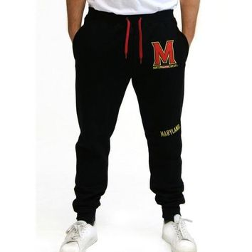 Maryland Terps NCAA Mens Jogger Pant (Black)