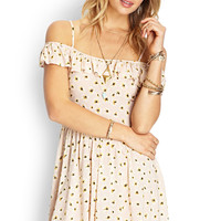 Ruffled Daisy Print Dress