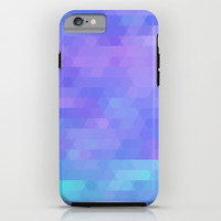 abstract geometric triangle mosaic - purple, aqua, lavender iPhone & iPod Case by Tina Lavoie's Glimmersmith