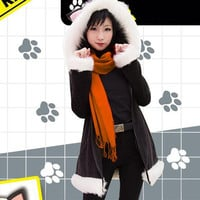 S/M/L DuRaRaRa Orihara Izaya Cat Ear Sweater Hoodie  Coat CP154322