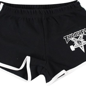 Thrasher Girls Skate Goat Night Shorts Medium Black/White