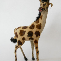 Giraffe African Taxidermy Real Fur Trophy Mini Toy