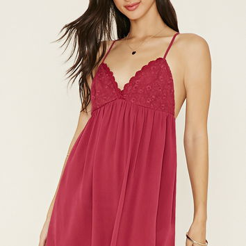 Lacy Gauze Cami Mini Dress