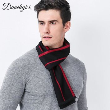 DANKEYISI Winter Striped Scarf Male Warm Acrylic Men Scarf Oversized Long Blanket Wrap Long Bandana Shawls And Scarves Men 2017