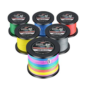 Brand 1000M PE Braided Fishing Line 4 Stands 8LB 10LB 20LB 60LB 80LB Multifilament Fishing Line Top Grade Fishing Wire