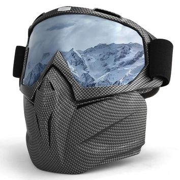 Ski Snowboard Glasses Face Mask Snowmobile Skiing Motocross Glasses Snow Winter Windproof