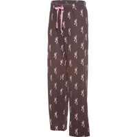 Browning Women's All Over Buckmark Chocolate Lounge Pants
