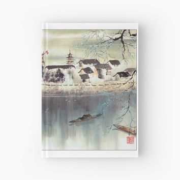 'Asian Scenery 2' Spiral Notebook by Aegyo Store