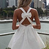 BLESSED ANGEL DRESS , DRESSES, TOPS, BOTTOMS, JACKETS & JUMPERS, ACCESSORIES, SALE, PRE ORDER, NEW ARRIVALS, PLAYSUIT, COLOUR,,White,CUT OUT Australia, Queensland, Brisbane