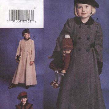 Girl's Coat and Hat Vogue For Me Sewing Pattern by MissBettysAttic