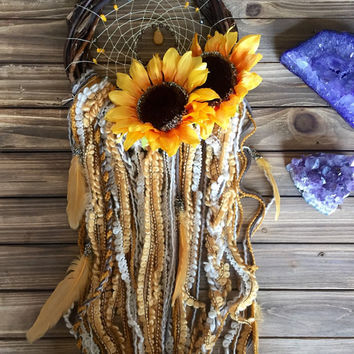 YQ-005 Sunflower Dreams Wreath Dream Catcher