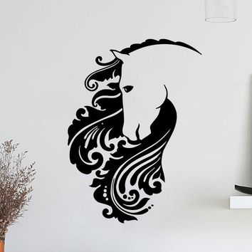 Wall Decal Sticker Mustang Horse