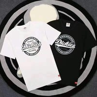 Dickies print black white short sleeve tee top H-A-XYCL