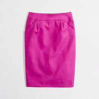 Factory long pencil skirt in double-serge cotton