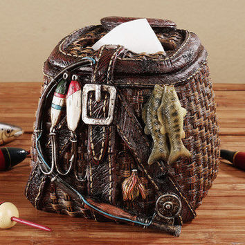 Creel Fishing Basket Tissue Cover