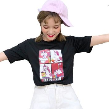 Kawaii T Shirt Summer Women Couple Clothes Tops 2018 Harajuku T-shirts Print Sailor Moon Loose Short Sleeve Lovers Tee Shirt