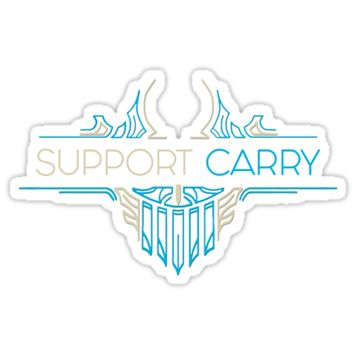 'Support Carry - League of Legends LOL Penta' Sticker by Flippant Shirts