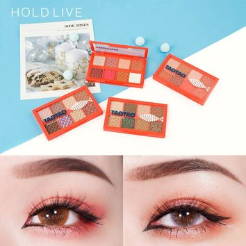 HOLD LIVE Summer Ocean Eye Shadow Palette Makeup Brand Long Lasting Shimmer Glitter Pigment Earth Peach Mermaid Matte Eyeshadow