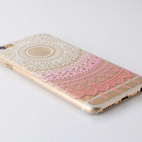 Originality Pink Lace iPhone 5se 5s 6 6s Case Ultrathin Transparent Cover Gift
