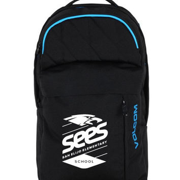 SEES Volcom Prohibit Backpack (Black - SEES Logo)