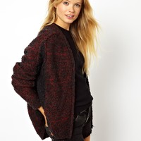 ASOS | ASOS Fluffy Bomber Cardigan at ASOS