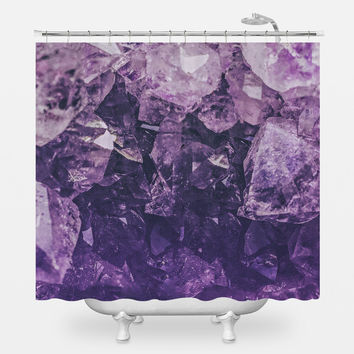 Amethyst Gem Shower Curtain