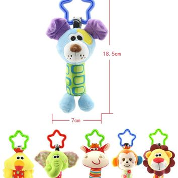 hot sale Baby Cloth bed crib hanging Soft Rattle early Educational Toy Baby Toy Soft Baby Toys Hand Bell Plush Stroller hanging
