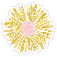 'Gold Flower' Sticker by pencreations