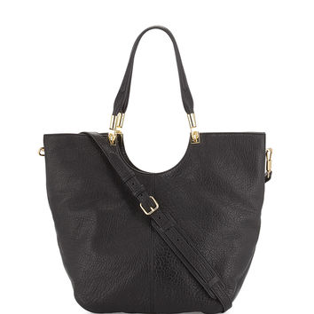 Convertible Large Shopper Bag, Black - Elizabeth and James