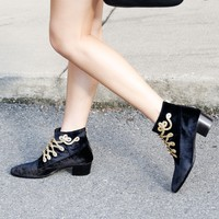 MODERN VICE | MJ Band Bootie - Black Velvet