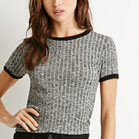 Contrast Ribbed Top