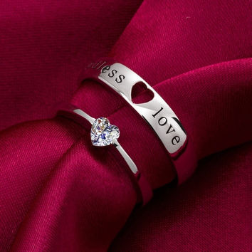 Wedding Bands,Lovers rings,his and hers promise ring sets,wedding rings,valentine's gift Rings  Electroplated by Platinum = 1929747460
