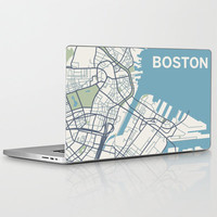 Boston Map Laptop & iPad Skin by Sophie Calhoun