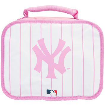 New York Yankees - Logo Pink Pinstripe Soft Lunch Box