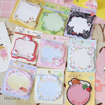 30 pages Kitty Gudetama Melody Twin Stars Memo Pads Student Stationery Notepad School Office Supply