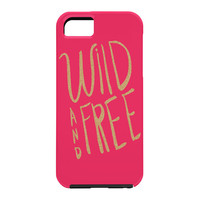 Allyson Johnson Wild and free glitter Cell Phone Case