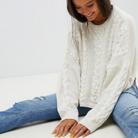 ASOS DESIGN cable sweater at asos.com