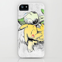Pokemon 4ever: Pikachu & Celebi iPhone & iPod Case by kamonkey