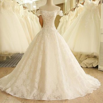 Vintage Lace Wedding Dress 2017