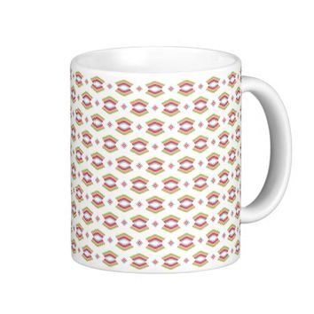 Colorful Abstract Aztec Tribal Pattern Coffee Mug