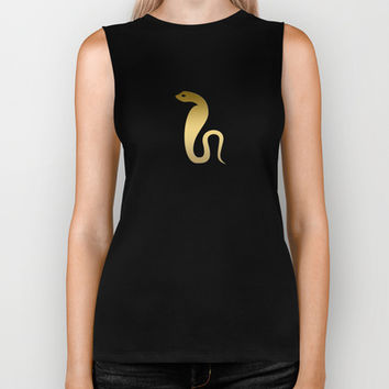 Ancient Egyptian snake – goddess Renenutet Biker Tank by PeculiarDesign