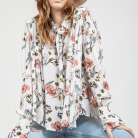 The Pick of The Flowers Neutral Blouse