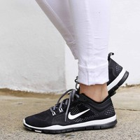 Nike Free 5 0 TR Fit 4 Breathe Training Shoes Black White Grey