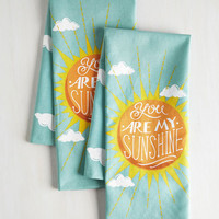 Sayings Sunbeam and Sugar Tea Towel Set by ModCloth