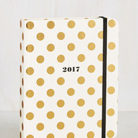 Cheer After Year 2017 Planner in Gold Dots | Mod Retro Vintage Desk Accessories | ModCloth.com