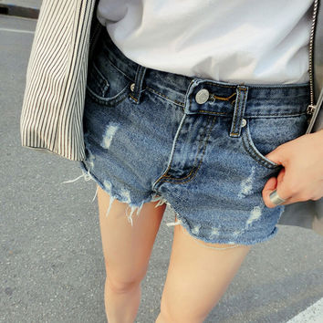 Womens Casual Denim Jeans Shorts Summer Gift 77