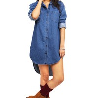 Urban Denim Shirt Dress